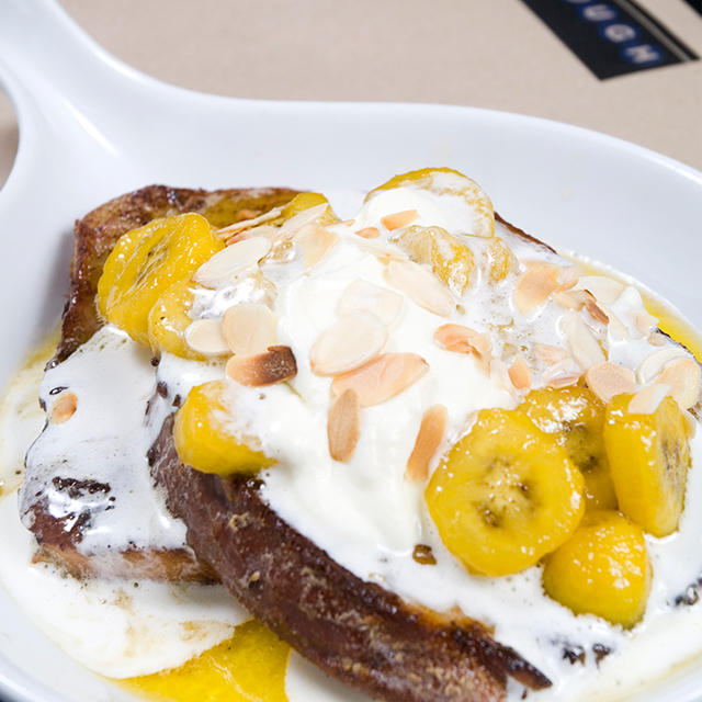Banana Amaretto French Toast