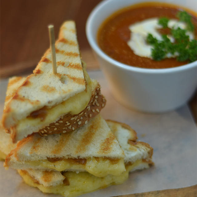 Ultimate Grilled Cheese with Roasted Tomato Soup