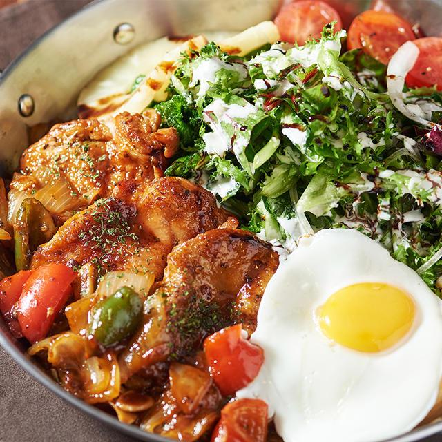 Spicy Chicken Steak Salad