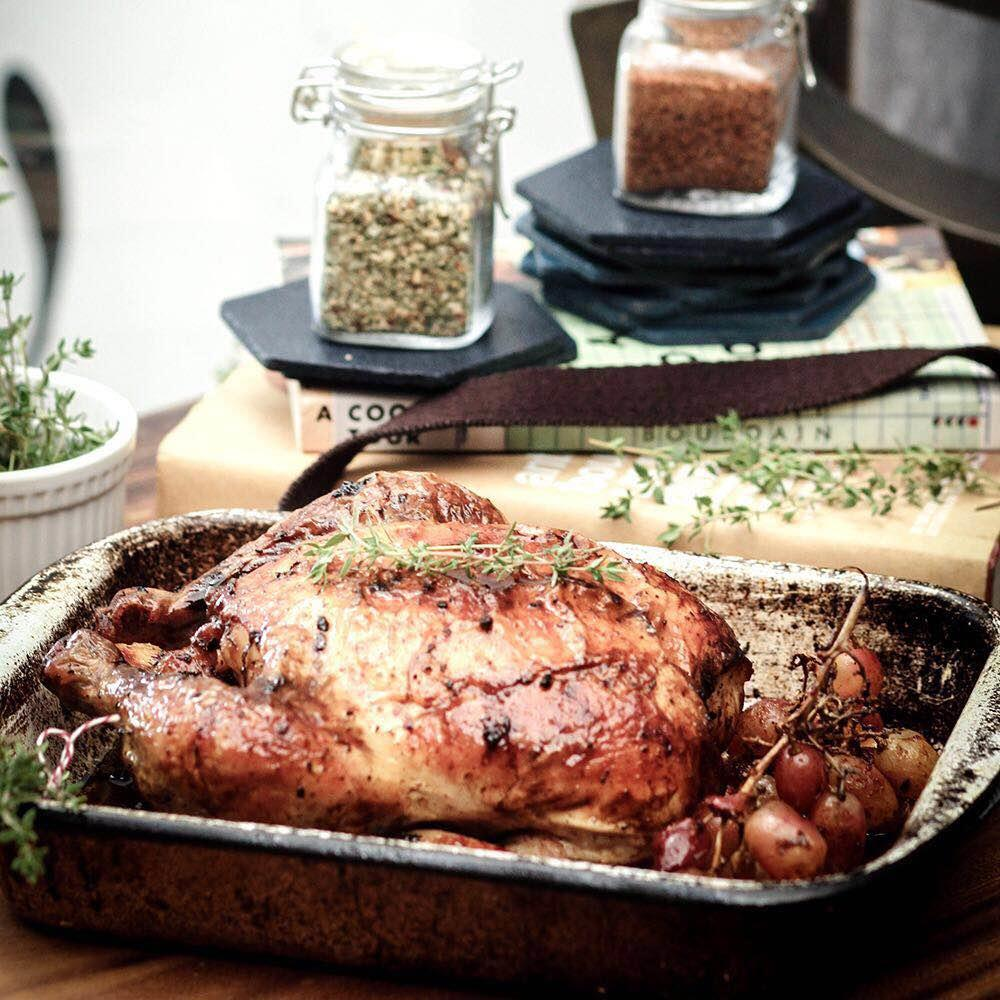 Roast Chicken with Smoked Paprika Grapes