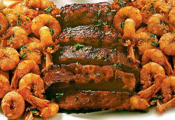 Shrimp and Ribs Platter
