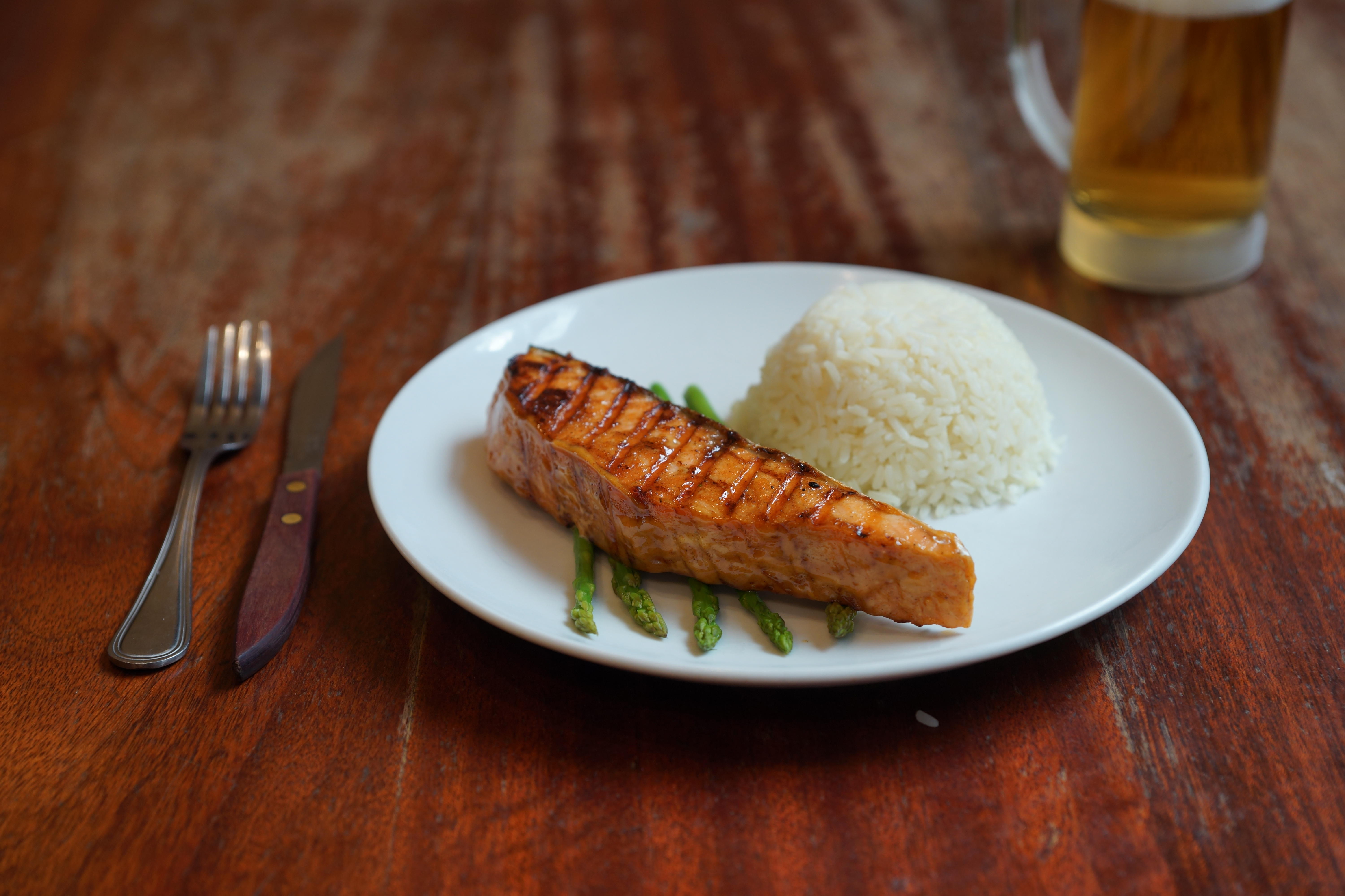 Sweet & Spicy Grilled Salmon