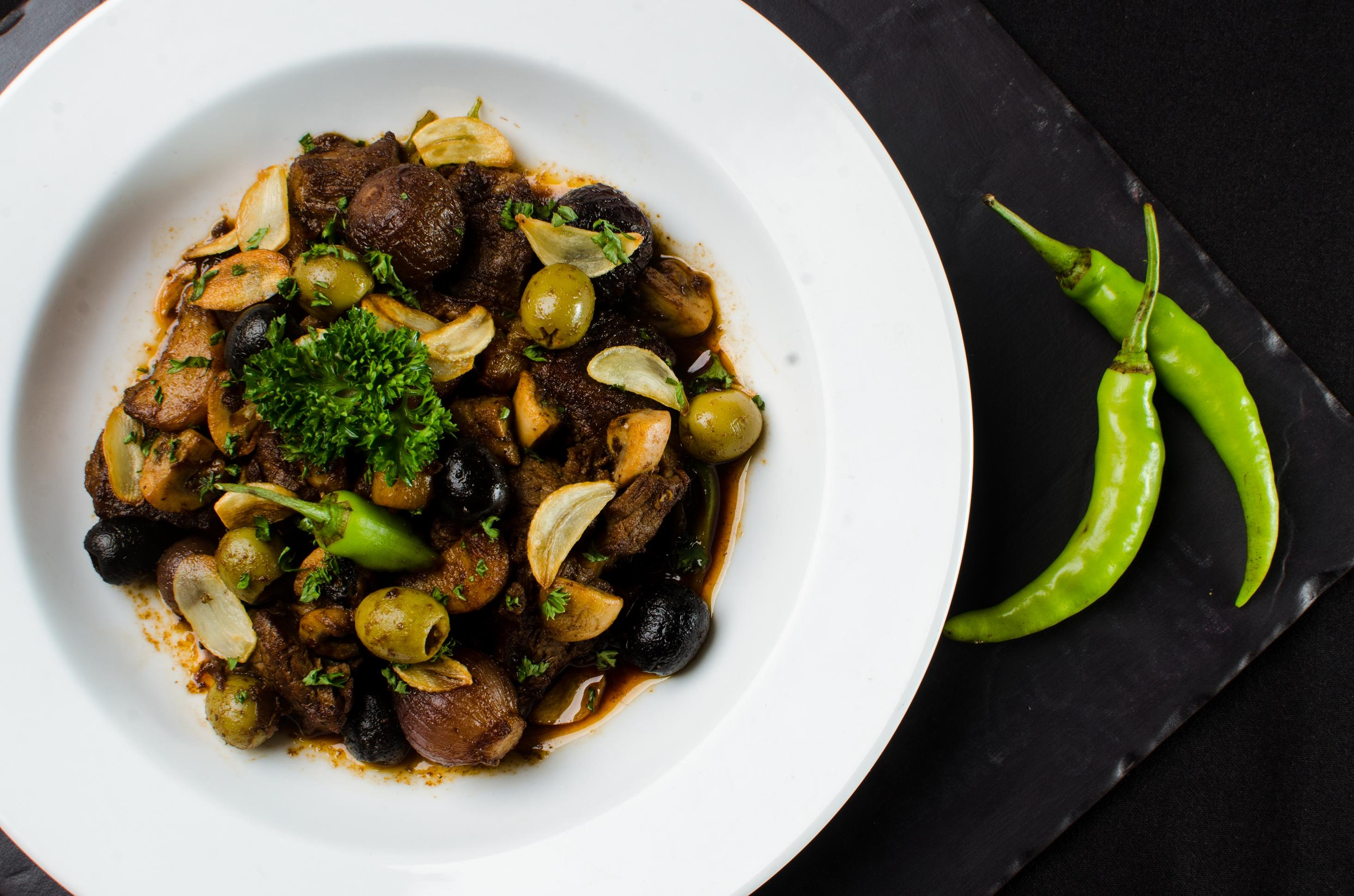 Beef Salpicao with Mushrooms and Shallots