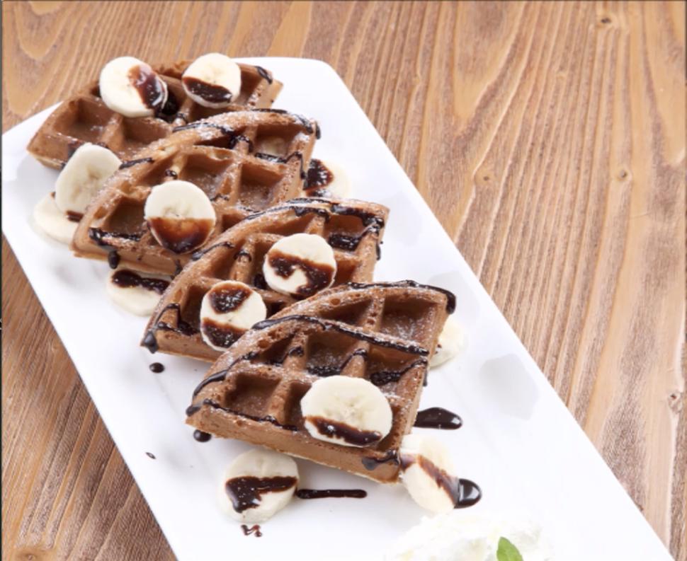 Banana Chocolate Waffle