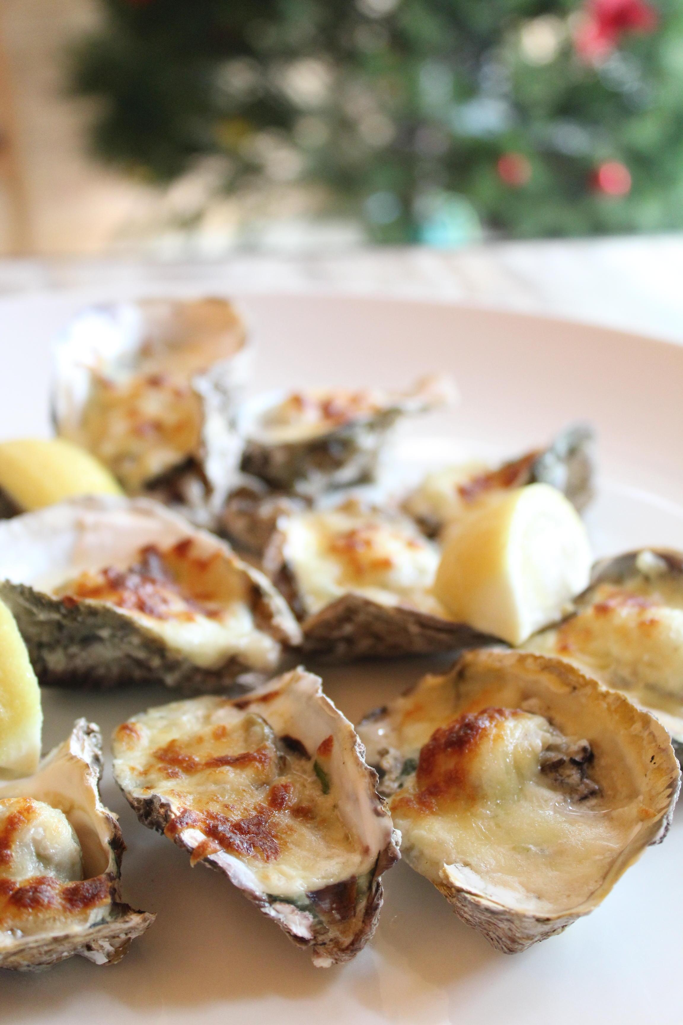 Fresh Oysters Or Baked Rockefeller