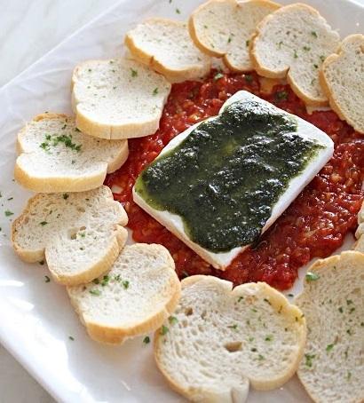 Gourmet Pesto Cheese Spread