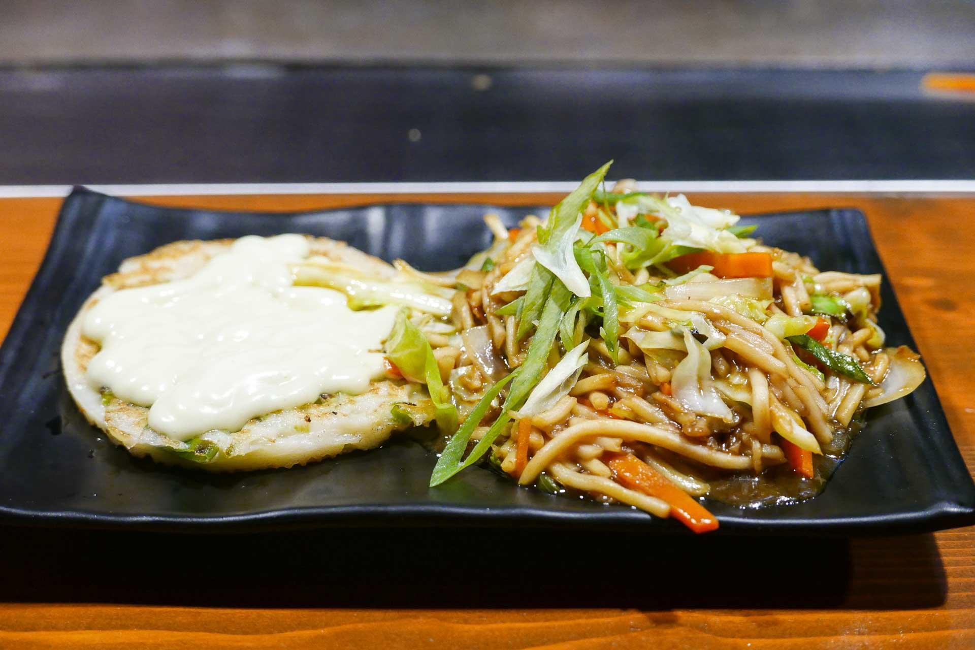 Okonomiyaki with Noodles