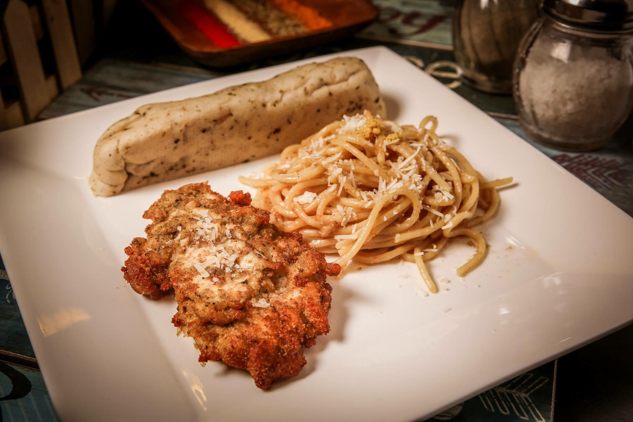 Chicken Parmesan with Lemon Spaghetti
