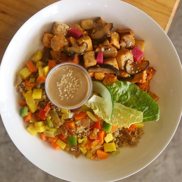 """Vegan """"Fried Rice"""" Bowl"""