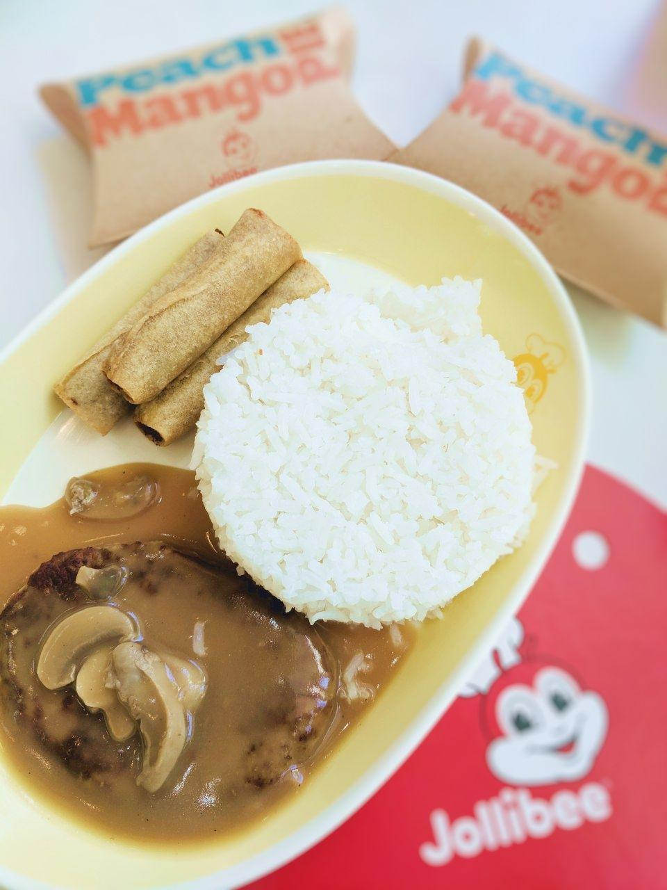 1-pc Burger Steak w/ 3pcs Shanghai