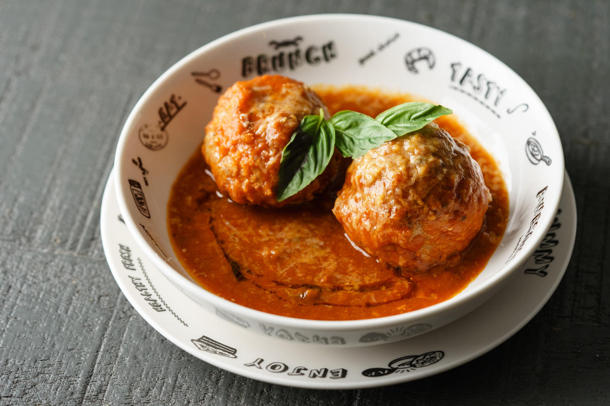 Q&A kitchen-style jumbo Meatballs and Toasted Ciabatta